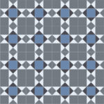 Domestic Cushion Vinyl Trend Tex Victorian Mosaic Blue edited 1 1