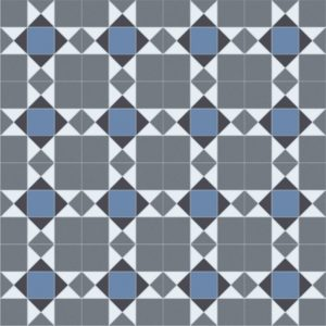 Domestic Cushion Vinyl Trend Tex Victorian Mosaic Blue edited 1